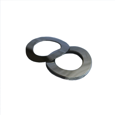 Wave Washer - 0.406 ID, 0.687 OD, 0.015 Thick, Spring Steel - Hard, Zinc & Clear
