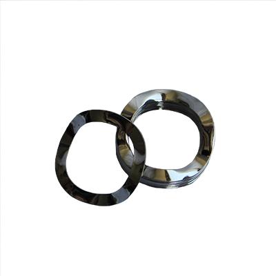 Wave Washer - 0.412 ID, 0.687 OD, 0.010 Thick, Spring Steel - Hard, Zinc & Black