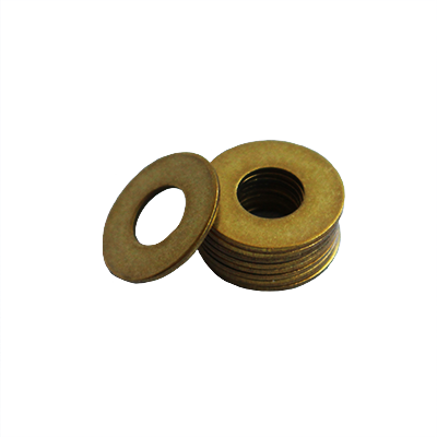Flat Washer - 0.050 ID, 0.109 OD, 0.015 Thick, Brass