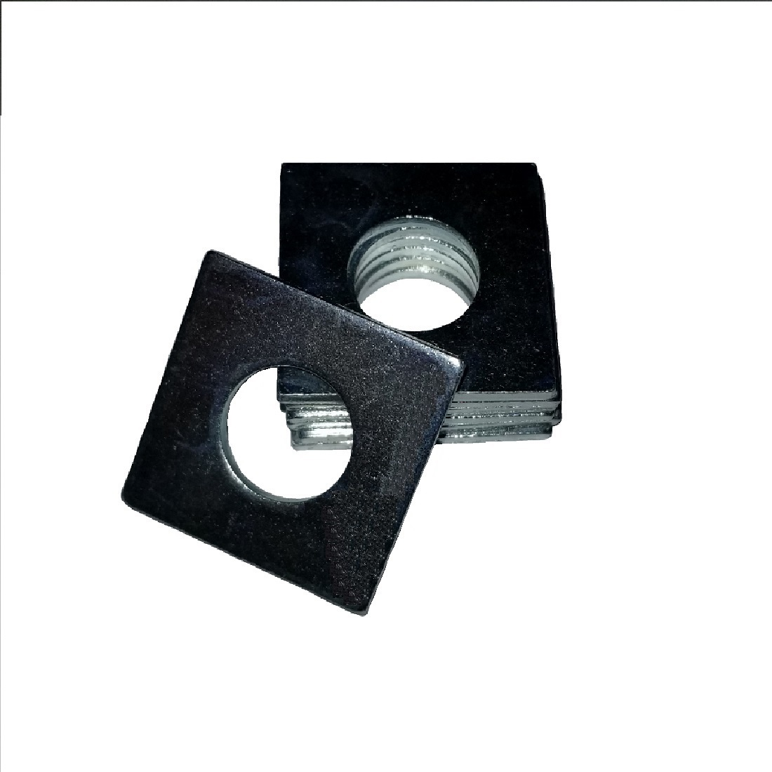 Square OD Washer - 0.187 ID, 0.437 OD, 0.048 Thick, Low Carbon Steel - Soft, Zinc & Clear