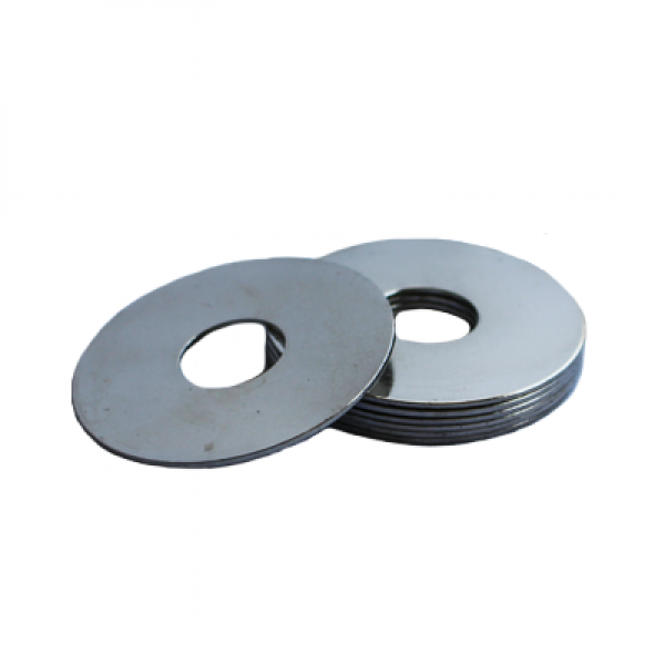 Fender Washer - 0.344 ID, 1.750 OD, 0.075 Thick, Low Carbon Steel - Soft, Zinc & Clear