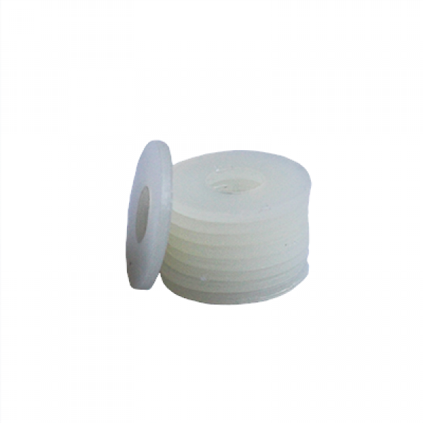 Flat Washer - 0.045 ID, 0.104 OD, 0.020 Thick, Nylon