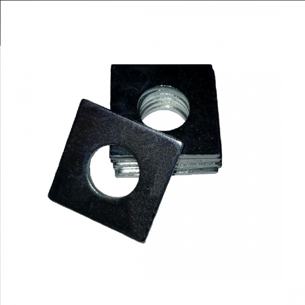 Square OD Washer - 0.187 ID, 0.430 OD, 0.070 Thick, Low Carbon Steel - Soft, Zinc & Clear