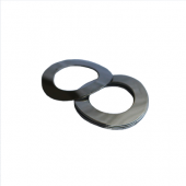 Wave Washer - 0.106 ID, 0.188 OD, 0.012 Thick, Spring Steel - Hard, Zinc & Yellow