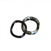Wave Washer - 0.343 ID, 0.468 OD, 0.010 Thick, Spring Steel - Hard, Zinc & Yellow