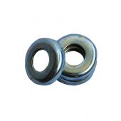 Cup Washer - 0.201 ID, 0.343 OD, 0.033 Thick, Low Carbon Steel - Soft, Zinc & Yellow