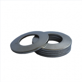 Belleville Washer - 0.121 ID, 0.242 OD, 0.029 Thick, Spring Steel - Hard, Zinc & Clear