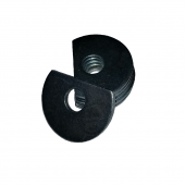 Clipped OD Washer - 0.156 ID, 0.375 OD, 0.062 Thick, Low Carbon Steel - Soft, Zinc & Clear