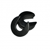 Slotted Washer - 0.160 ID, 0.420 OD, 0.033 Thick, Low Carbon Steel - Soft, Zinc & Clear