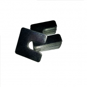 Slotted Square Washer - 0.625 ID, 2.000 OD, 0.125 Thick, Low Carbon Steel - Soft, Zinc & Clear
