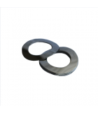 Wave Washer - 0.388 ID, 0.688 OD, 0.020 Thick, Spring Steel - Hard, Zinc & Clear