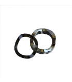 Wave Washer - 0.260 ID, 0.468 OD, 0.020 Thick, Spring Steel - Hard, Zinc & Clear
