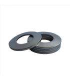 Belleville Washer - 0.121 ID, 0.242 OD, 0.029 Thick, Spring Steel - Hard, Cadmium