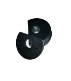 Clipped OD Washer - 0.125 ID, 0.312 OD, 0.030 Thick, Low Carbon Steel - Soft, Zinc & Clear
