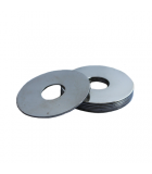 Fender Washer - 0.346 ID, 1.750 OD, 0.075 Thick, Low Carbon Steel - Soft, Zinc & Clear