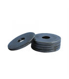 Heavy Fender Washer - 0.219 ID, 1.000 OD, 0.125 Thick, Low Carbon Steel - Soft, Zinc & Clear