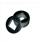 Square ID Washer - 0.468 ID, 2.250 OD, 0.134 Thick, Low Carbon Steel - Soft, Zinc & Black