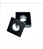 Square OD Washer - 0.187 ID, 0.437 OD, 0.048 Thick, Low Carbon Steel - Soft, Nickel